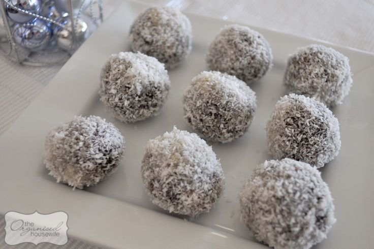 ... cocoa and rum then roll into balls. Roll in coconut and refrigerate
