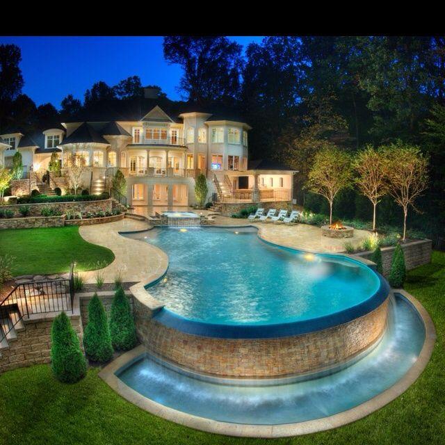 Amazing Backyard Pools : DREAM HOUSE  amazing backyard with pool  Pools  Pinterest