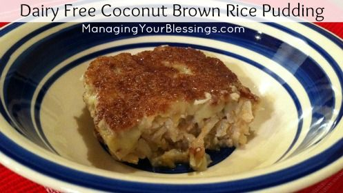 Dairy Free Coconut Brown Rice Pudding Recipe :: ManagingYourBlessings ...