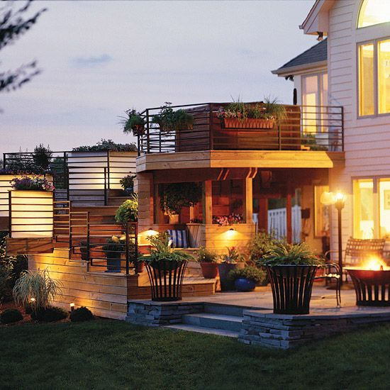 Great Backyard Patios : Lighting the Patio  My patio is nowhere near this extravagant but no