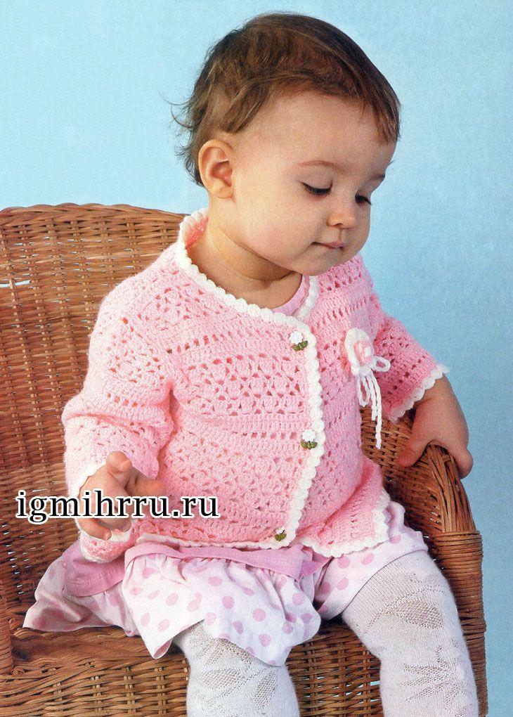 Вязание кофточка для малышки 154