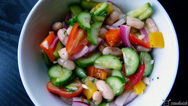 Chopped Vegetable & White Bean Salad with Fresh Herb Vinaigrette