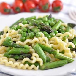 Pasta with Sugar Snap Peas, Asparagus and Parmesan on BigOven. Add ...