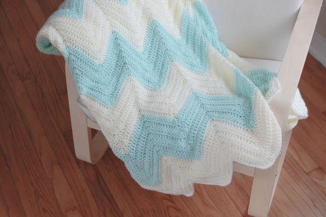Zig Zag Crochet Baby Blanket Pattern Free : zig zag blanket Crochet Pinterest