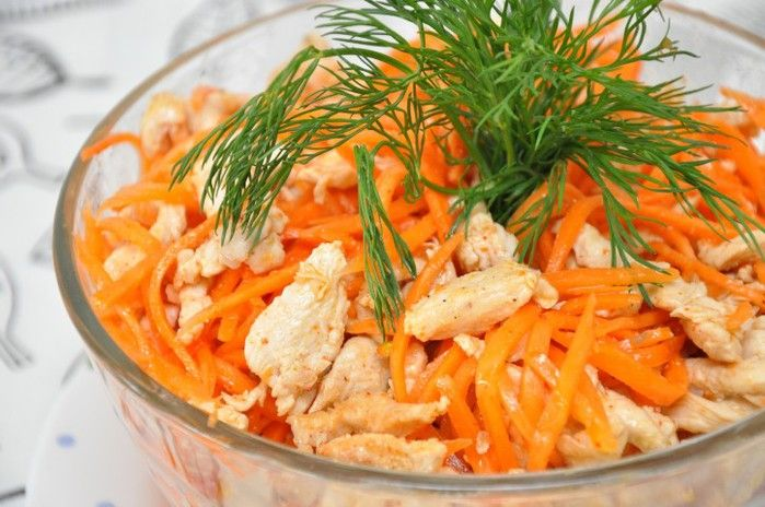 Салат хе с курицы рецепт