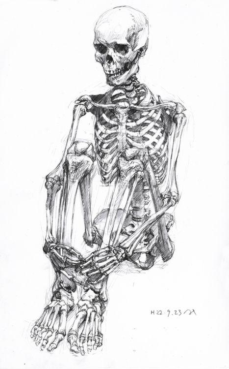 sitting skeleton