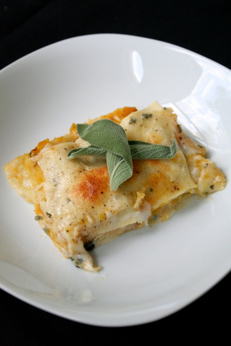 Roasted Butternut Squash Lasagna : Use reduced fat cheeses Also this ...