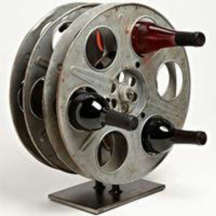 film reels into wine rack repurposed pinterest