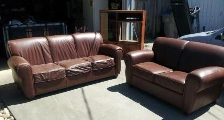 Leather Sofa & Loveseat | used couches | Pinterest