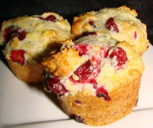 Cranberry Orange Muffins sub w/ coc oil; 1/2 cup honey; wheat flour