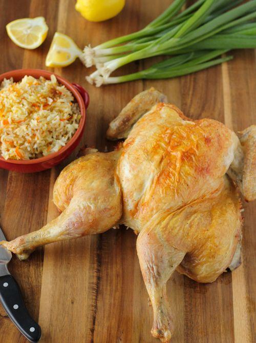 Butterflied Roast Chicken With Rice Stuffing | Recipe