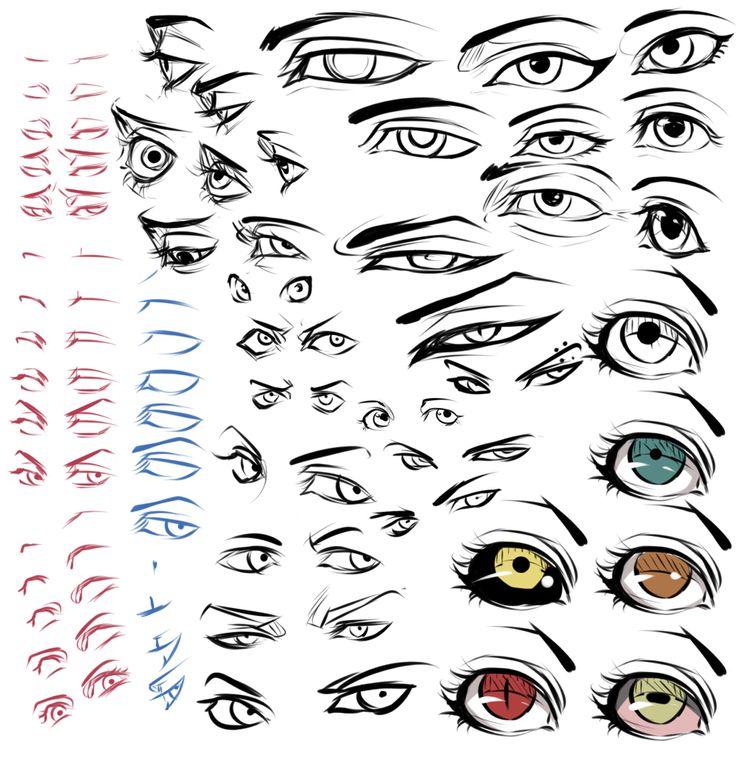 Guida come disegnare gli occhi Anime i stili piu belli