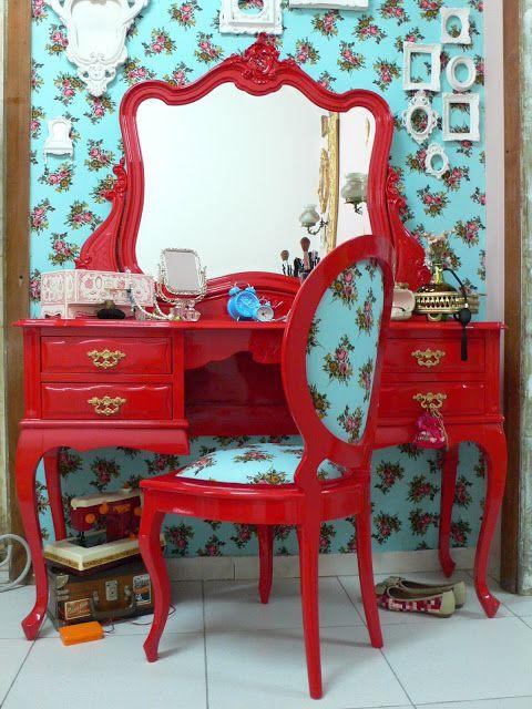 Ateliando - customização de Móveis Antigos: Vermelho Valentino ...