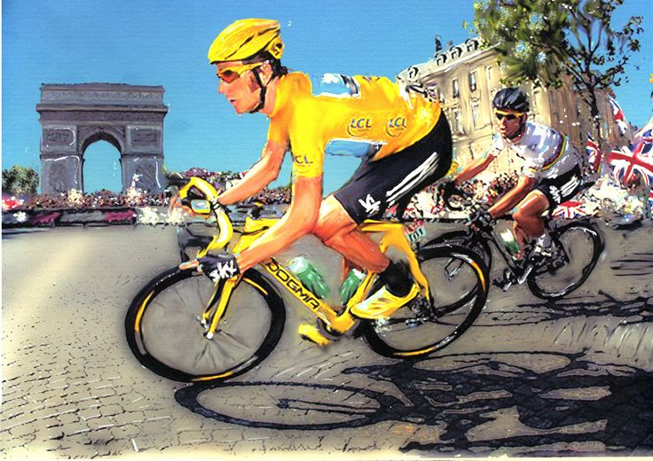 Bradley Wiggins Veritas Art TdF | Tour de France | Pinterest