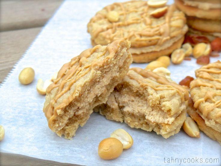 Triple Peanut Butter Sandwich Cookies   Love Cookies!   Pinterest
