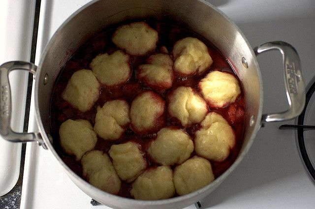 strawberries and dumplings, smitten kitchen
