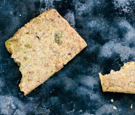 Pistachio Shortbread Recipe at Epicurious.com