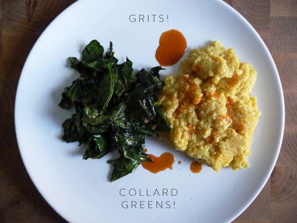 Savory grits & collard greens. | FOOD. | Pinterest