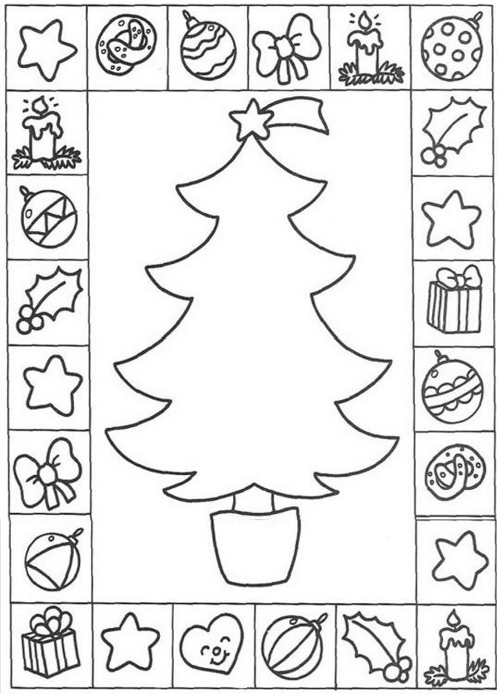 xmas tree | Christmas Coloring Pages | Pinterest