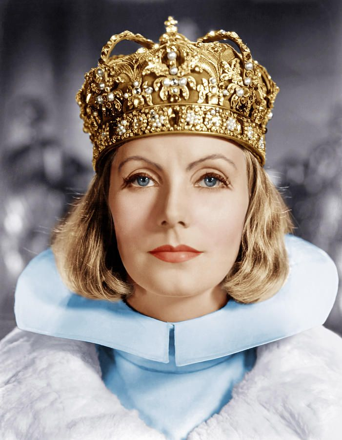 Greta Garbo seen in rare color promotional photo in   Queen Christina    Greta Garbo Color