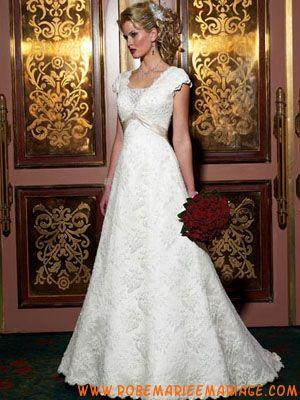 Robe de mariée dentelle avec ceinture  robe de mariage 2014  Pinter ...