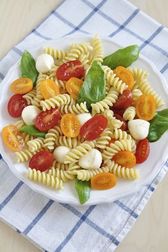 Caprese Pasta: Mix 11/2 pounds of seeded and coarsely chopped plum ...