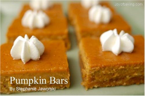 Pumpkin bars   Recipes-Dessert   Pinterest