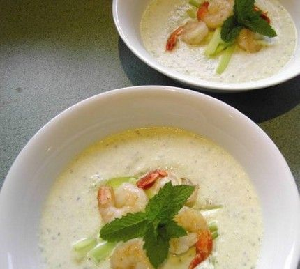 Chilled Cucumber Soup. Nice to have chilled soup during the summer ...