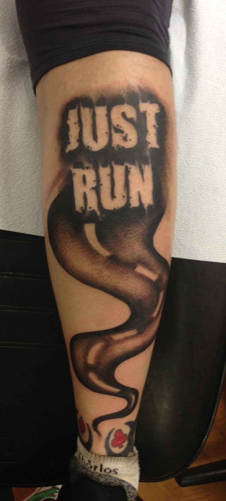 Running related tattoos