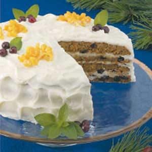 cranberry carrot cake, easy to sub sugar (molasses)