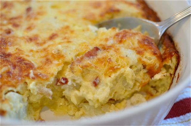 cauliflower-bacon-gratin | Good things to eat | Pinterest