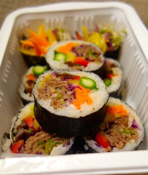 Beef kimbap | 대한민국 [Republic of Korea] | Pinterest