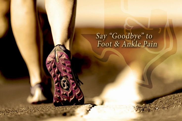 """Say """"Hello!"""" to relief and """"Goodbye"""" to foot pain at East Texas Foot & Ankle Centers!"""