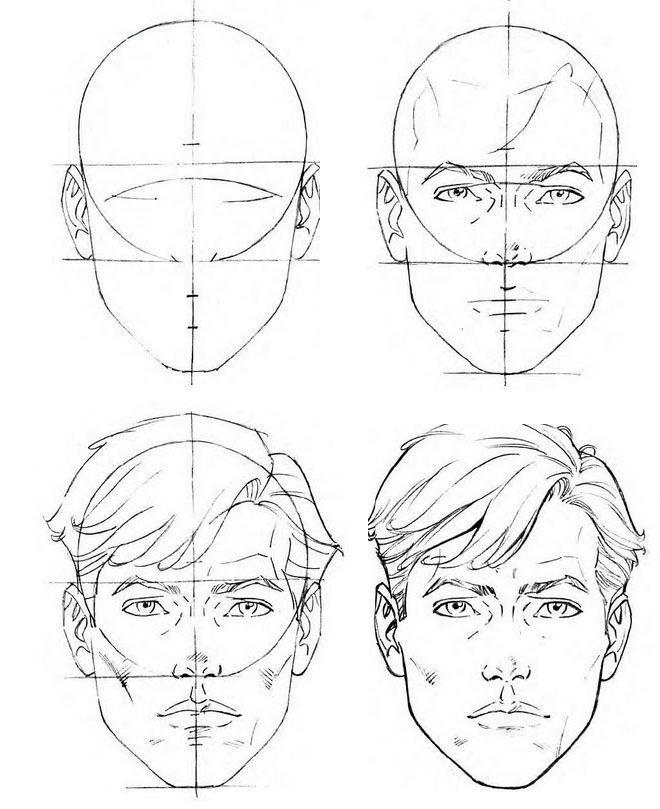 Как нарисовать лицо вся схема