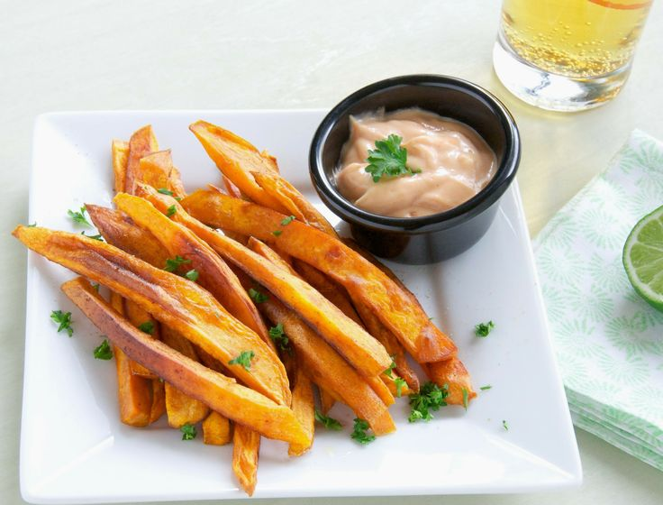 Sweet Potato Fries With Sriracha Creme Fraiche Recipes — Dishmaps