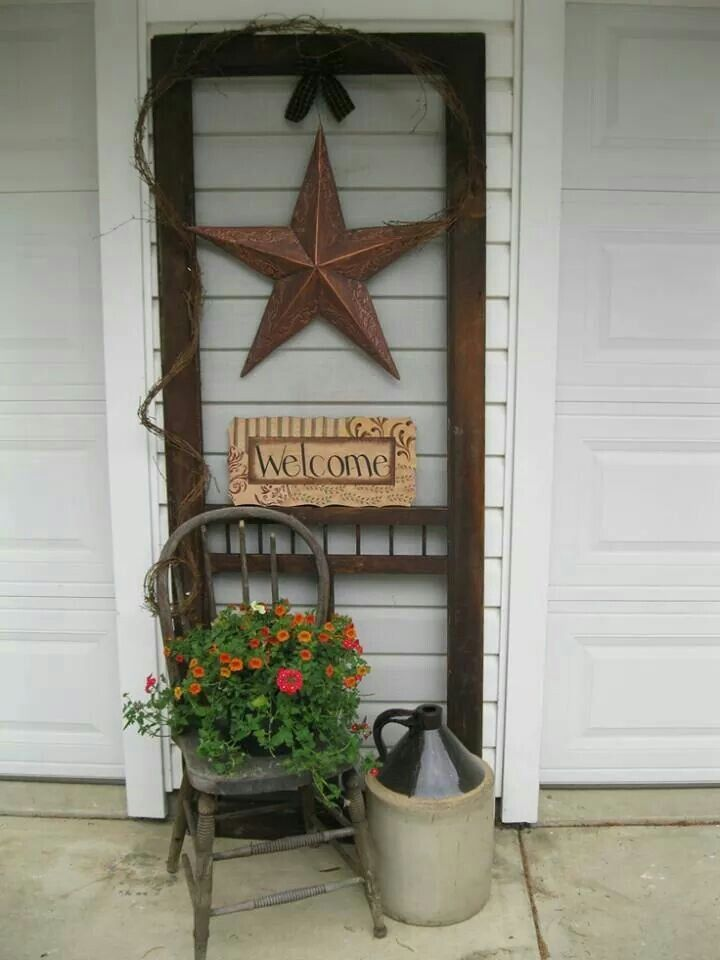 old screen door gardening pinterest