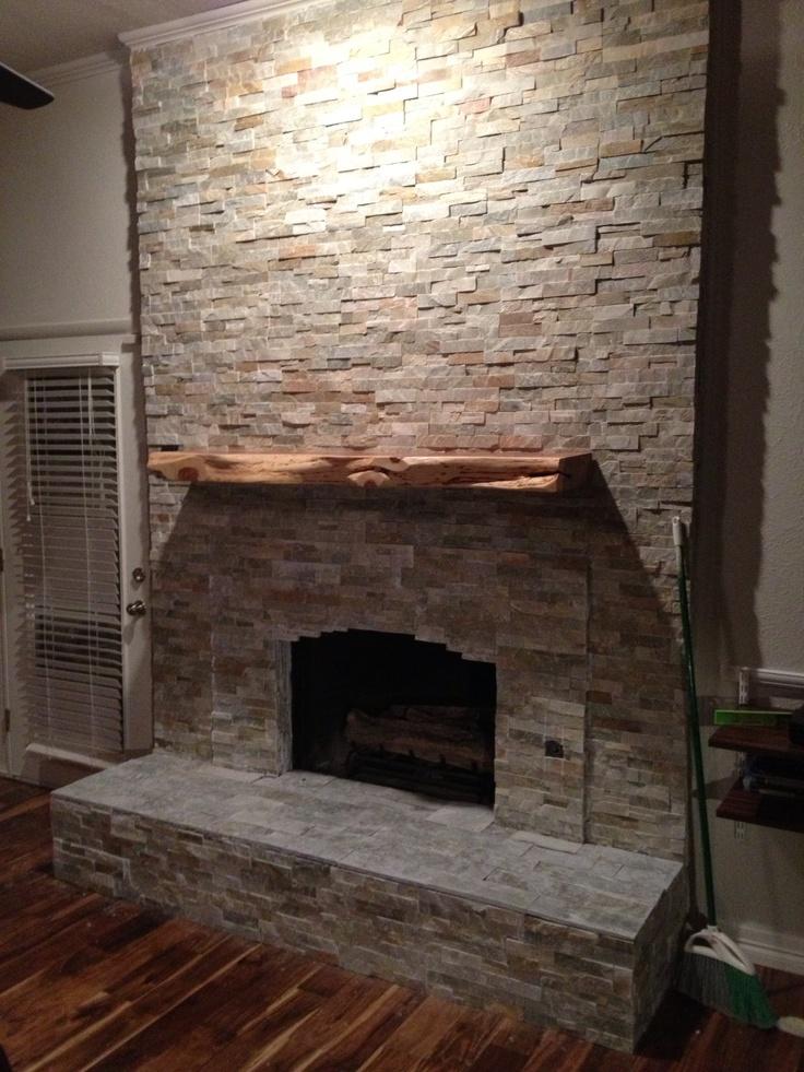 Cedar Slab Mantle For The Home Pinterest