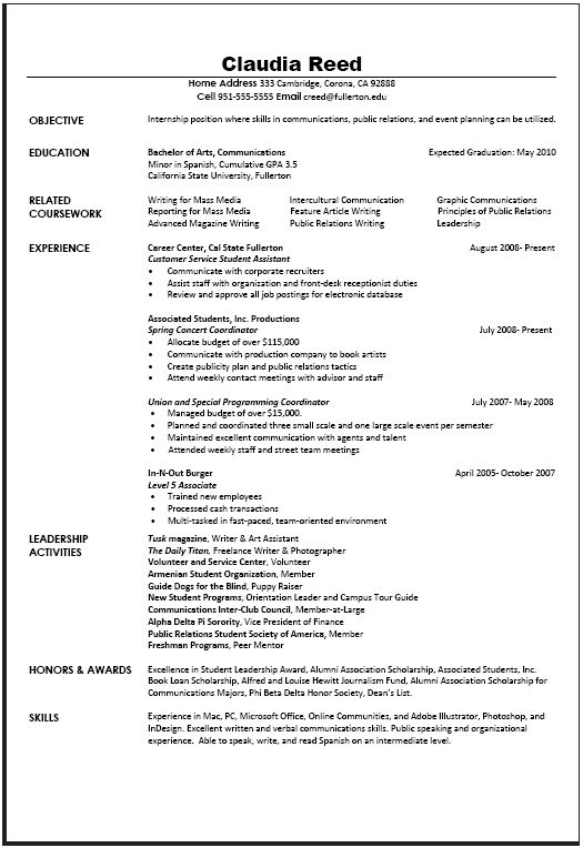 University of denver resume help