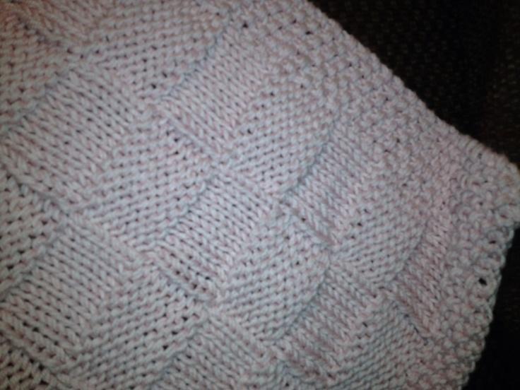 Basket Weave Knitting Pattern Baby Blanket : Knitted basket weave baby blanket things i made