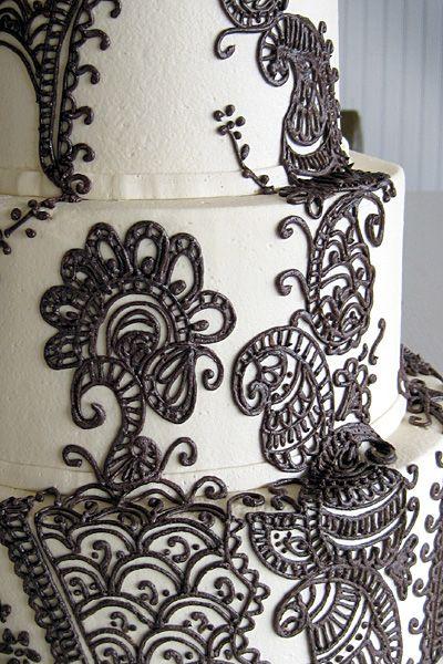 Mehndi Patterns For Cakes : Mehndi cake wedding cakes pinterest
