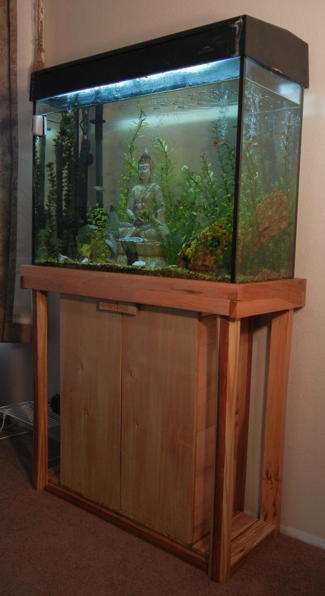 Fish tank cabinet cool fish tanks pinterest for Fish tank cabinets