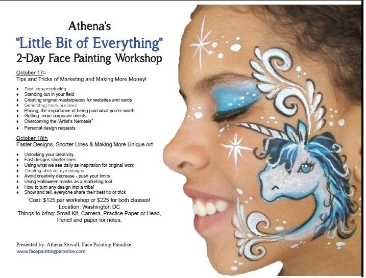 Classes for marketing face painting flyers pinterest for Painting and decorating advertising ideas