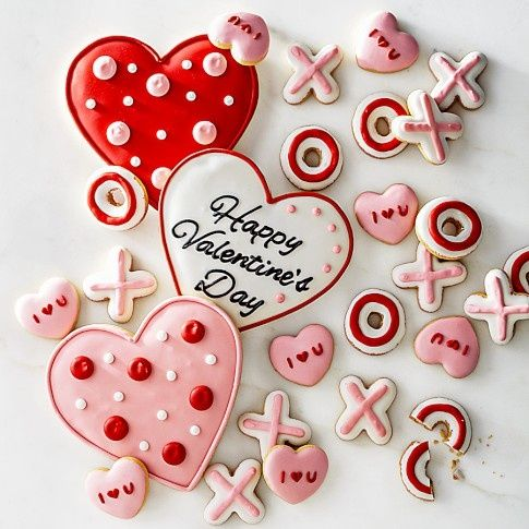 Williams sonoma mini iced valentine vanilla cookies valentine