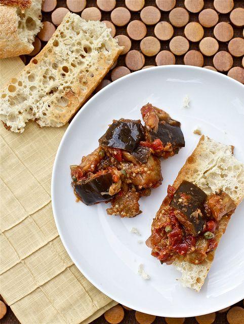 Eggplant Caponata   And She Cooks Too!   Pinterest