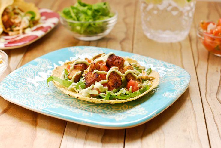 Vegan Tempeh Tacos with Avocado-Lime Crema