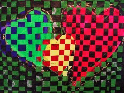 valentine heart weaving craft