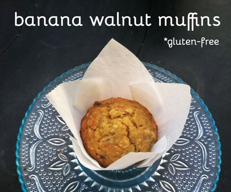 Gluten-Free Banana Walnut Muffins, made with quinoa flour & greek ...