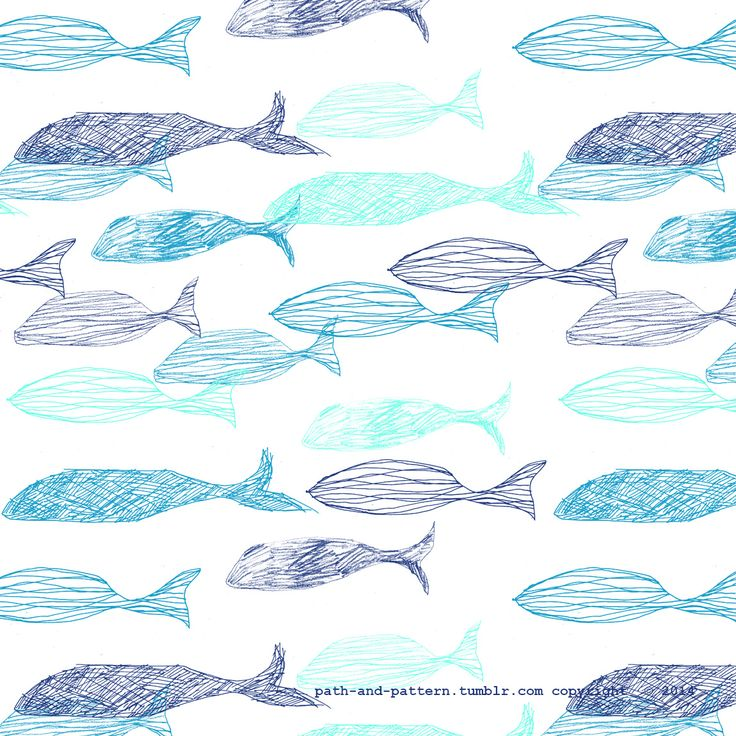 whale wallpaper pattern