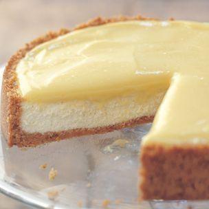 Goat Cheese-Lemon Cheesecake by shawn | J'aime la bouffe! | Pinterest