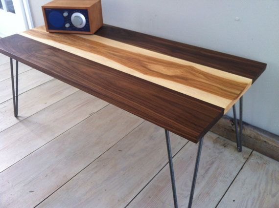 Quick Ship Item Mid Century Modern Coffee Table Featuring Black Waln